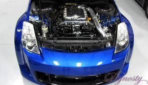nissan 350z modified engine. Beautiful Engine Twin Turbo Stroker Nissan 350Z Engine Bay Dynosty  On 350z Modified G