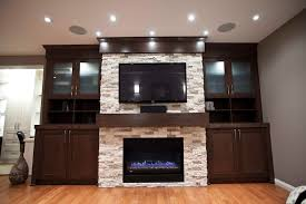 electric fireplace ideas home theater contemporary with bookshelf built ins cabinetry image by urban abode