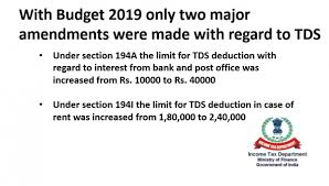 Tds Rate Chart For Fy 2019 20 Taxontips