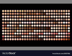 Human Skin Tone Color Palette Swatches