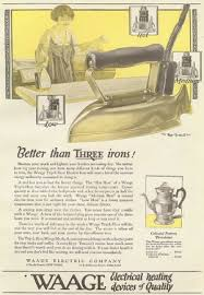 early electric irons self heating flat irons sad irons better than three irons ilustrated ad