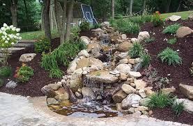 Small Picture Relaxing Backyard Waterfalls Ideas Rilane