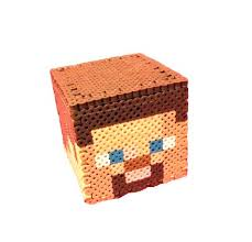 17 best images about cajas hama beads perler bead minecraft perler bead steve money box by by regalopia freak creations