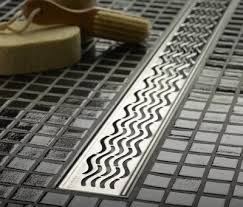linear shower drains with feet wavy grate design 34 9 inch
