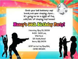 70s Theme Party Invitations Retro Theme Party Invitation Card Disco