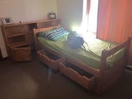 single bed closet desk