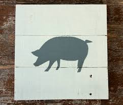 pig sign wooden pig pig painting pig wall art pig nursery for most current farm animal on wooden pig wall art with image gallery of farm animal wall art view 19 of 20 photos