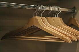 empty closet with hangers. Download Empty Hangers Hang In A Row The Closet Stock Image - Of With P