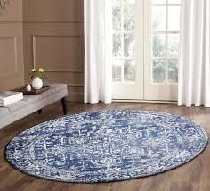 evolve contrast transitional round rug navy 150x150cm