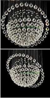 sphere style crystal chandelier glass globe chandeliers modern