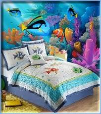 Kids Colorful Fish Quilt Collection Underwater Ocean Murals