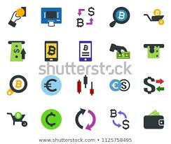 Colored Vector Icon Set Japanese Chart Stock Vector Royalty