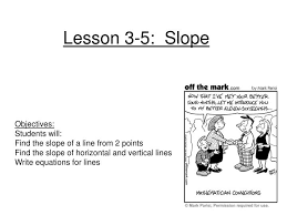 lesson 3 5 slope n