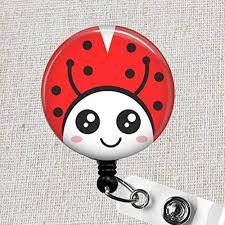 Amazon Com Ladybug Badge Reel Red Ladybug Retractable Name Badge
