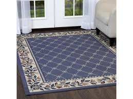 home dynamix area rugs premium rug 7015 country blue 5 3