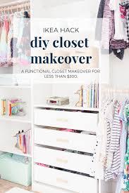 diy closet makeover ikea