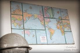 World Map Home Decor Creative Juices Decor Oh For The Love Of Maps Home Decor Ideas