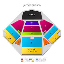 Jacobs Pavilion At Nautica Seating Chart Jacobs Pavilion At Nautica 2019 Seating Chart