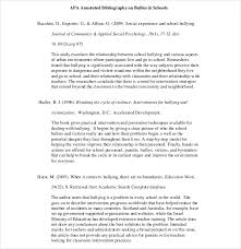 Annotated Bibliography Template 10 Simple Annotated Bibliography Templates Free Sample