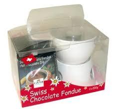 swiss chocolate fondue gift pack