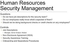 Chapter 6 Human Resources Security Management Infosec Management