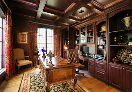 built in home office cabinets. Built In Office Cabinets Home Traditional With Arched Window Brown Wall