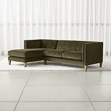 fabric sectional sofas. Aidan Velvet 2-Piece Left Arm Chaise Tufted Sectional Sofa Fabric Sofas -