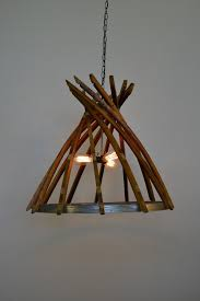 craftsman botiga wine barrel stave chandelier