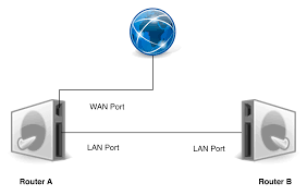 networking connecting a router to another router now note that by default each router will try to assign its own ip address mostly static and assign ip addresses to its clients using dhcp dynamic