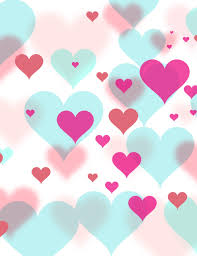 Pink And Red Hearts Printed On Bokeh Hearts Background For Holiday