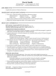Gallery Of Human Resources Resume Objective Latest Resume Format