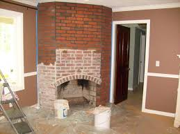 red brick fireplace remodel
