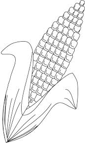 Small Picture Corn coloring page Download Free Corn coloring page for kids
