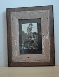 distressed looking wooden picture frame