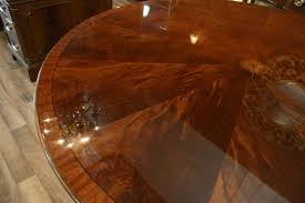 Inlaid Dining Table Perimeter Table Round Dining Table With Perimeter Leaves