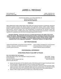 Resume Sample Resume Templates Template Examples Writing Tips Extraordinary Marine Corps Resume