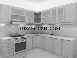 Small Picture Kitchen Set Minimalis White AM49 Ahza Meubel Jepara Ahza