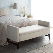 Overstock Bedroom Furniture Bedroom Bedroom Bench With Tufted Seat Overstock Storage Bench