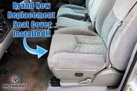 2003 2006 chevy tahoe suburban ls z71 lt cloth seat cover driver bottom gray