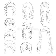 La Coiffure De Collection Pour Le Dessin De Cheveux De L