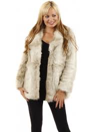 siberian stone faux fur jacket