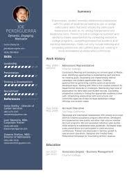 Admissions Representative Resume samples