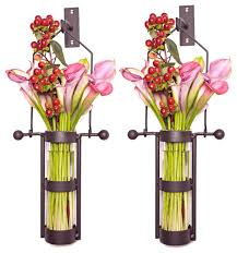 wall mount hanging glass cylinder vases