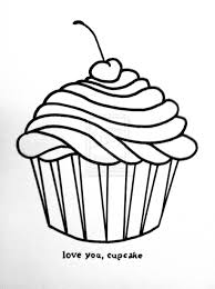 cupcake drawing black and white. Modren White Cupcake Drawing Black And White  Gallery Throughout D
