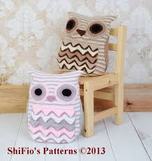 Owl Pillow Pattern Owl Cushion Knitting Pattern 239
