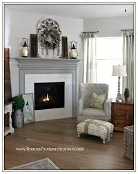 farmhouse fireplace diy fireplace painted dorian gray from my front porch to