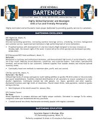 Bartender Resume Templates Bartender Resume Examples Resume Templates Example Bartender Resume 10