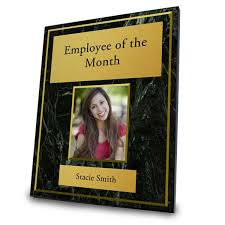 Employee Of The Month Photo Frame Photo Award Plaque For Employee Of The Month Ritzpix Ritzpix