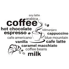 coffee bean coffee cup sticker