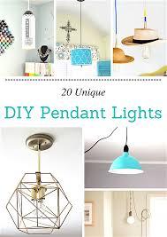 unique diy lighting. 20 Unique DIY Pendant Lights Diy Lighting H